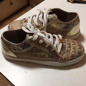 Shoes - Gold Sneakers